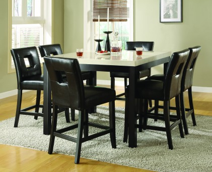 Homelegance Archstone 7pc Black Counter Height Dining Room Set Available Online in Dallas Fort Worth Texas