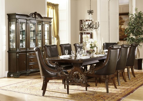 Homelegance Orleans 9pc Trestle Dining Room Set Available Online In Dallas  Fort Worth Texas