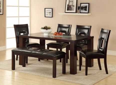 Homelegance Lee 6pc Espresso Dining Table Set Available Online in Dallas Fort Worth Texas