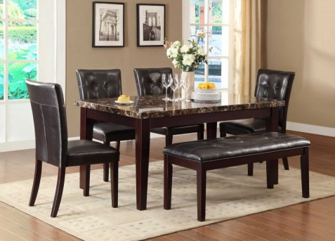 Homelegance Teague 6pc Espresso Dining Table Set Available Online in Dallas Fort Worth Texas