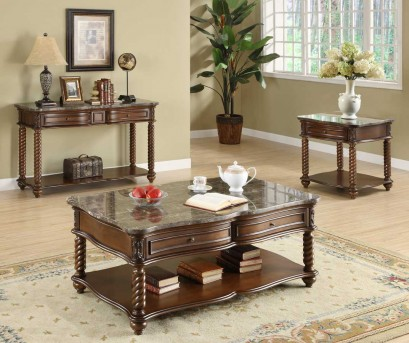 Homelegance Lockwood 3pc Brown Mahogany Coffee Table Set Available Online in Dallas Fort Worth Texas