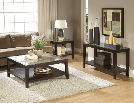 Homelegance Vincent 3pc Glass Top Coffee Table Set Available Online in Dallas Fort Worth Texas