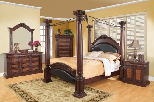 Grand Prado 5pc Queen Canopy Bedroom Group Available Online in Dallas Texas