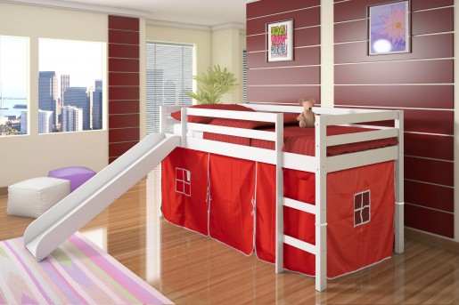 Donco Bart Twin White Loft Bed Available Online in Dallas Fort Worth Texas