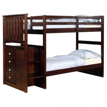 Donco Cappuccino Twin/Twin Stariway Bunk Bed Available Online in Dallas Fort Worth Texas
