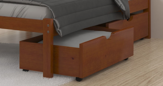 Donco Light Espresso Under Bed Storage Available Online in Dallas Fort Worth Texas