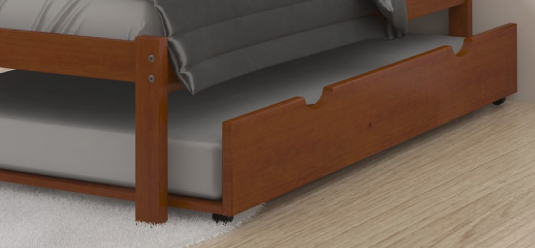 Donco Light Espresso Trundle Bed Available Online in Dallas Fort Worth Texas
