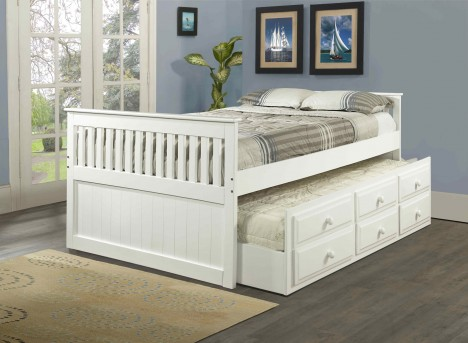 Donco Twin White Mission Captain Bed Available Online in Dallas Fort Worth Texas