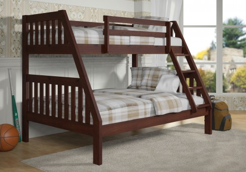 Donco Zed Cappuccino Twin/Full Bunk Bed Available Online in Dallas Fort Worth Texas