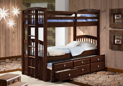 Donco Angelica Cappuccino Twin/Twin Bunk Bed Available Online in Dallas Fort Worth Texas