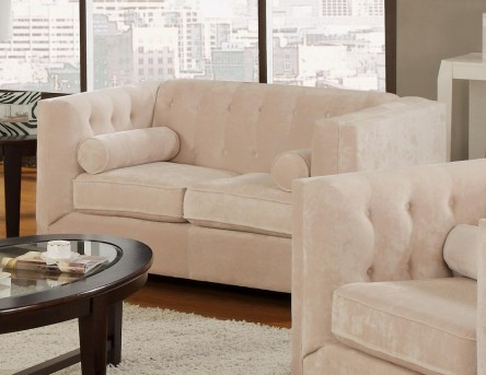 Coaster Alexis Almond Loveseat Available Online in Dallas Fort Worth Texas