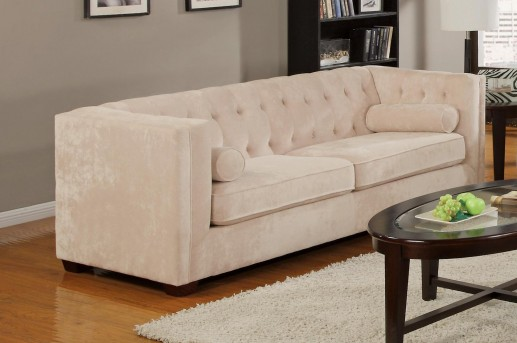 Coaster Alexis Almond Sofa Available Online in Dallas Fort Worth Texas