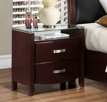 Homelegance Lyric Espresso Night Stand Available Online in Dallas Fort Worth Texas