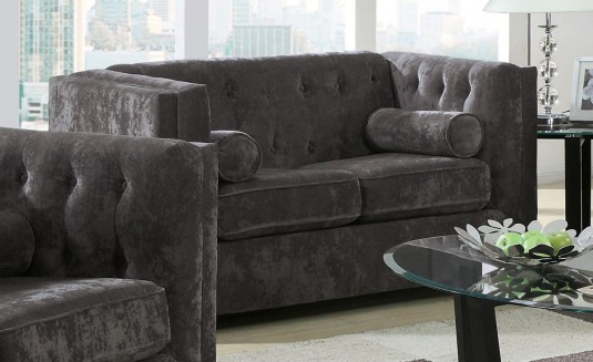 Alexis Charcoal Loveseat Available Online in Dallas Fort Worth Texas