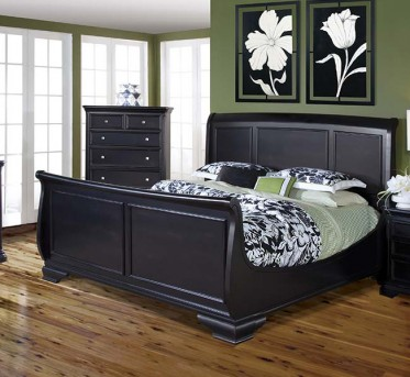 Maryhill Black Queen Sleigh Footboard Available Online in Dallas Fort Worth Texas