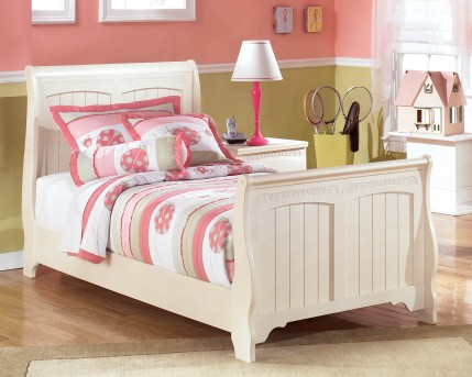 Ashley Cottage Retreat Twin Sleigh Footboard Available Online in Dallas Fort Worth Texas