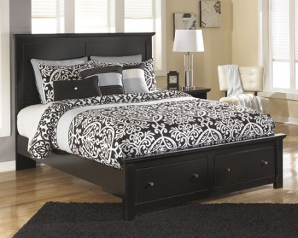 Ashley Maribel Queen Platform Storage Bed Available Online in Dallas Fort Worth Texas