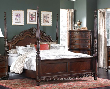 Homelegance Deryn Park Queen Poster Bed Available Online in Dallas Fort Worth Texas