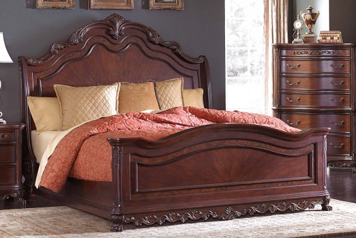 Homelegance Deryn Park Queen Sleigh Bed Available Online in Dallas Fort Worth Texas