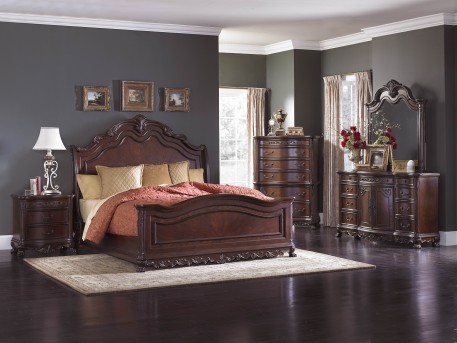 Homelegance Deryn Park Queen 5pc Sleigh Bedroom Group Available Online in Dallas Fort Worth Texas