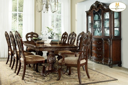 Homelegance Deryn Park Double Pedestal Dining Table Available Online in Dallas Fort Worth Texas