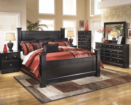 Ashley Shay 5pc King Poster Bedroom Group Available Online in Dallas Fort Worth Texas