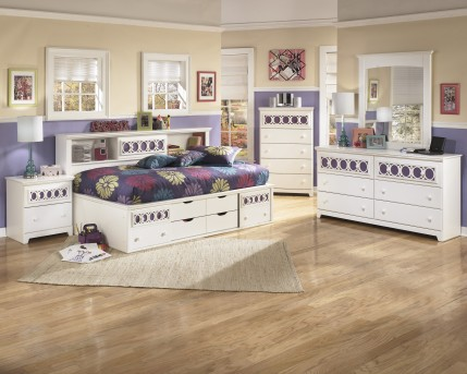 Ashley Zayley 5pc Full Bookcase Storage Bedroom Group Available Online in Dallas Fort Worth Texas