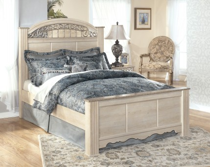 Ashley Catalina Queen Poster Bed Available Online in Dallas Fort Worth Texas
