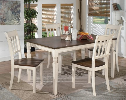 Ashley Whitesburg 5pc Rectangular Dining Room Set Available Online in Dallas Fort Worth Texas