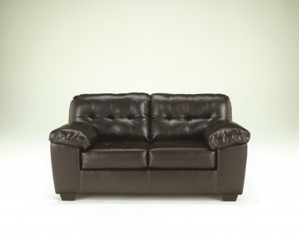 Ashley Alliston DuraBlend Chocolate Loveseat Available Online in Dallas Fort Worth Texas