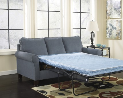 Ashley Zeth Denim Full Sleeper Sofa Dallas TX