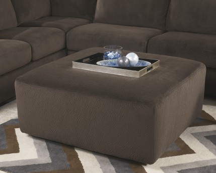Ashley Jessa Place Chocolate Oversized Accent Ottoman Available Online in Dallas Fort Worth Texas