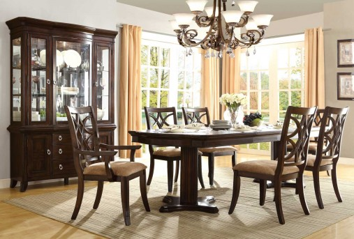 Keegan Pedestal 7pc Dining Room Set Available Online in Dallas Texas