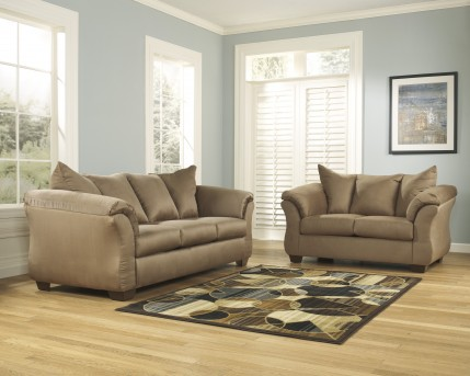 Ashley Darcy Mocha Sofa & Loveseat Set Available Online in Dallas Fort Worth Texas