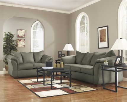 Ashley Darcy Sage Sofa & Loveseat Set Available Online in Dallas Fort Worth Texas