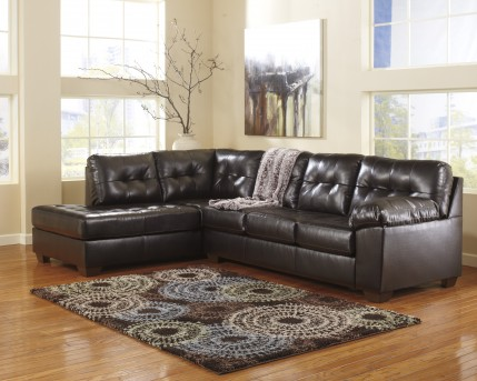 Ashley Alliston DuraBlend Chocolate 2pc Sectional Left Side Chaise Available Online in Dallas Fort Worth Texas