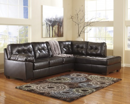Ashley Alliston DuraBlend Chocolate 2pc Sectional Right Side Chaise Available Online in Dallas Fort Worth Texas
