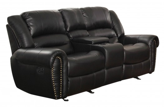 Homelegance Center Hill Black Glider Loveseat Available Online in Dallas Fort Worth Texas
