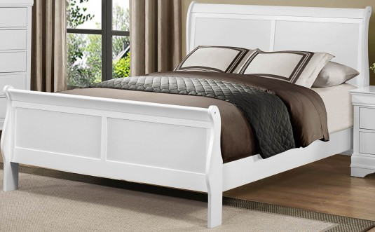 Homelegance Mayville Queen White Sleigh Bed Available Online in Dallas Fort Worth Texas