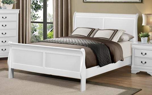 Homelegance Mayville King White Sleigh Bed Available Online in Dallas Fort Worth Texas