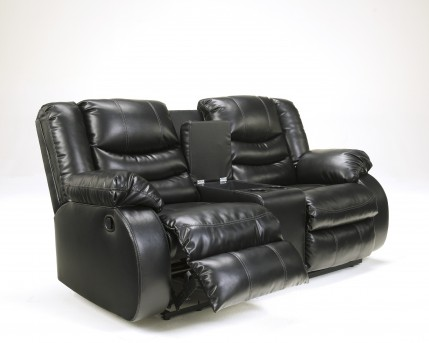 Ashley Linebacker Black Console Loveseat Available Online in Dallas Fort Worth Texas