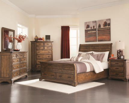 Coaster Elk Grove King 5pc Platform Storage Bedroom Group Available Online in Dallas Fort Worth Texas