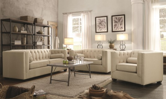 Coaster Cairns Oatmeal 2pc Sofa & Loveseat Set Available Online in Dallas Fort Worth Texas