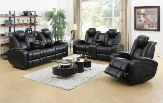 Coaster Delange Power 2pc Reclining Sofa & Loveseat Set Available Online in Dallas Fort Worth Texas