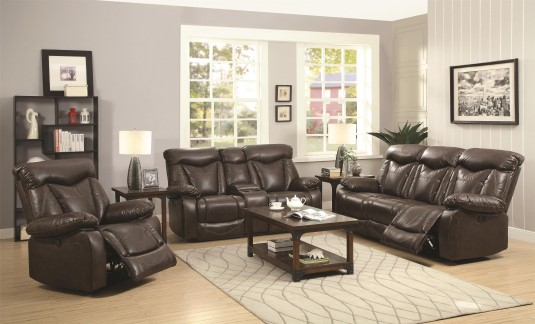 Coaster Zimmerman 2pc Reclining Sofa & Loveseat Set Available Online in Dallas Fort Worth Texas
