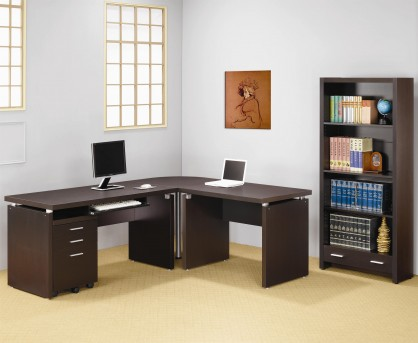 Coaster Skylar 3pc L-Shape Office Suite Available Online in Dallas Fort Worth Texas