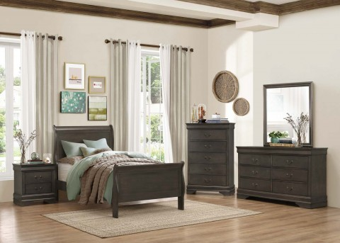 Homelegance Mayville 5pc Grey Full Bedroom Group Available Online in Dallas Fort Worth Texas
