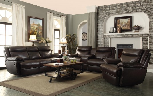 Coaster MacPherson 2pc Reclining Sofa & Loveseat Set Available Online in Dallas Fort Worth Texas