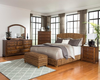 Coaster Laughton King 5pc Natural Woven Bedroom Group Available Online in Dallas Fort Worth Texas