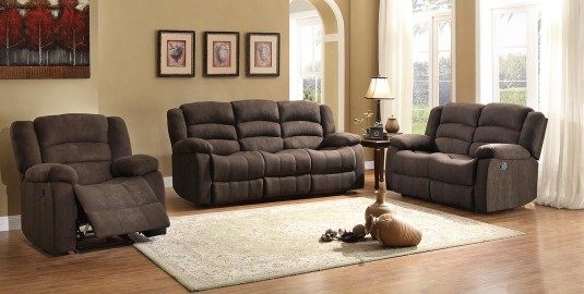 Homelegance Greenville Brown 2pc Reclining Sofa & Loveseat Set Available Online in Dallas Fort Worth Texas